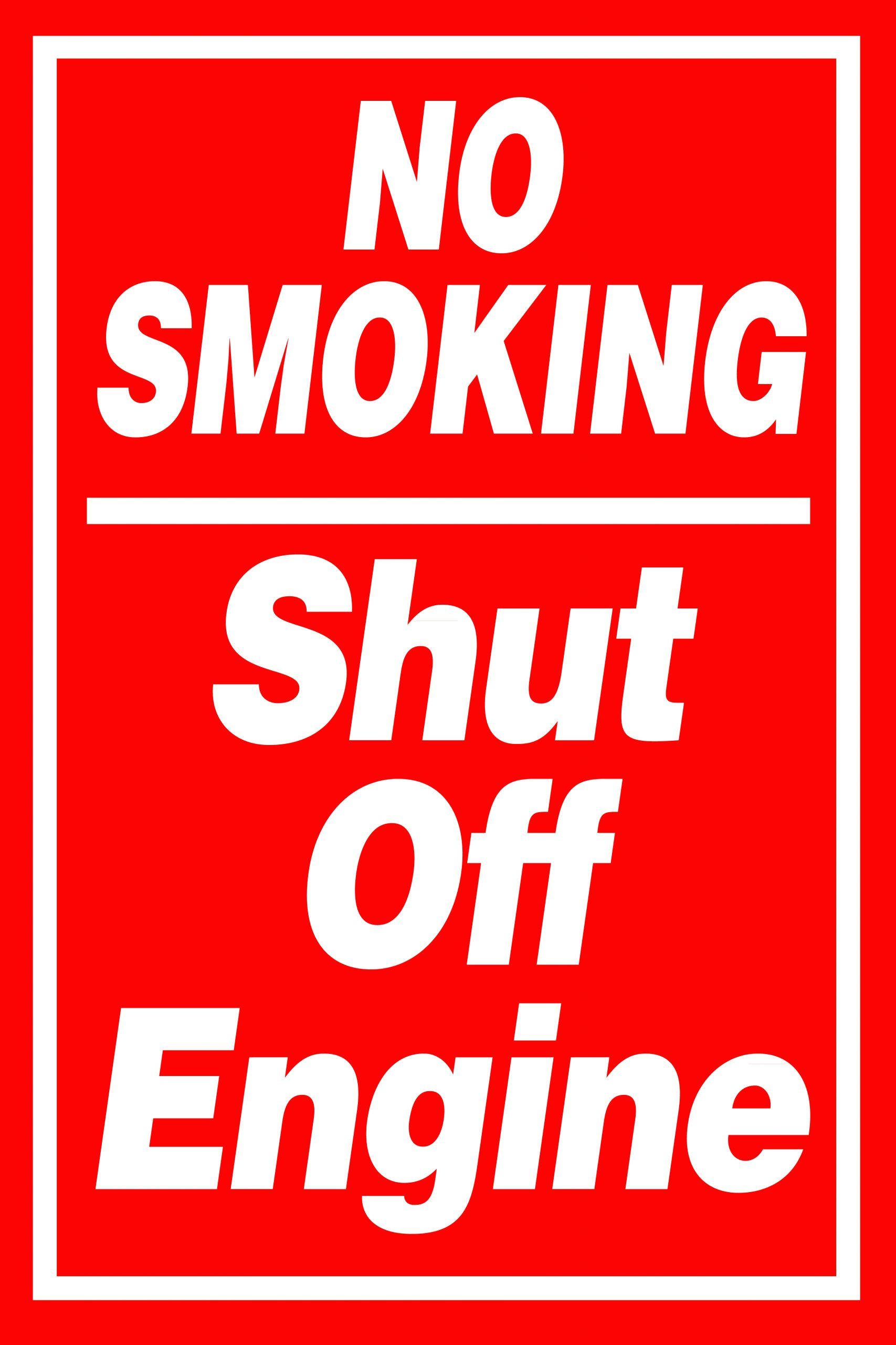 no smoking shut off engine